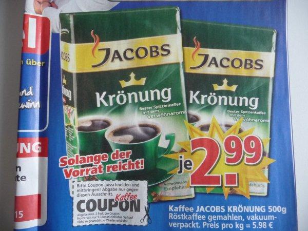 (lokal) Jacobs Krönung Kaffee 500g für 2,99 Euro bei Möbel Kempf Aschaffenburg