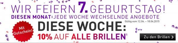 10% bei brille24.de vom 12.4.15-18.4.15