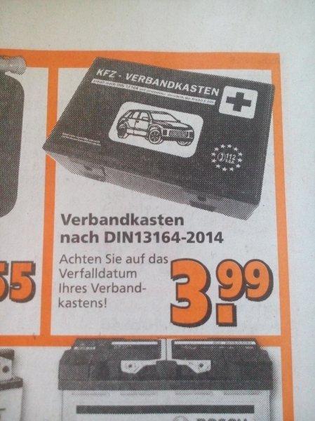 [Globus Baumarkt - lokal !?] Verbandskasten nach DIN13164-2014