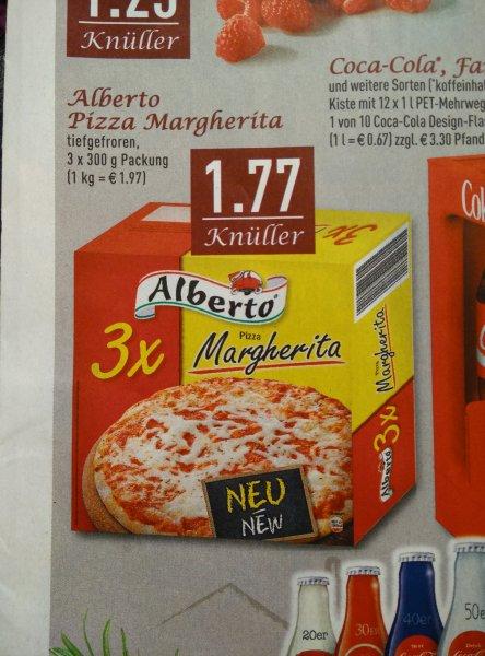 (EDEKA Rhein-Ruhr) 3x Alberto Pizza Margherita 1,77 Euro (0,59 Euro / Stk)