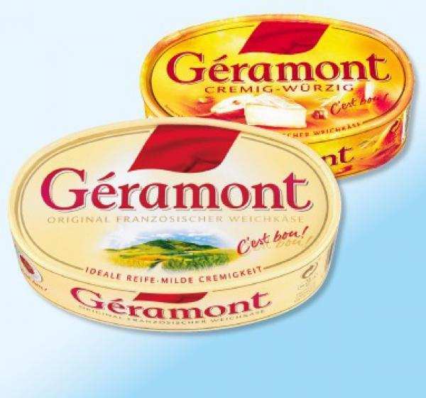 [Penny] GÉRAMONT französischer Weichkäse, versch. Sorten und Fettstufen für 1,69 Euro (13.04.-18.04.15)