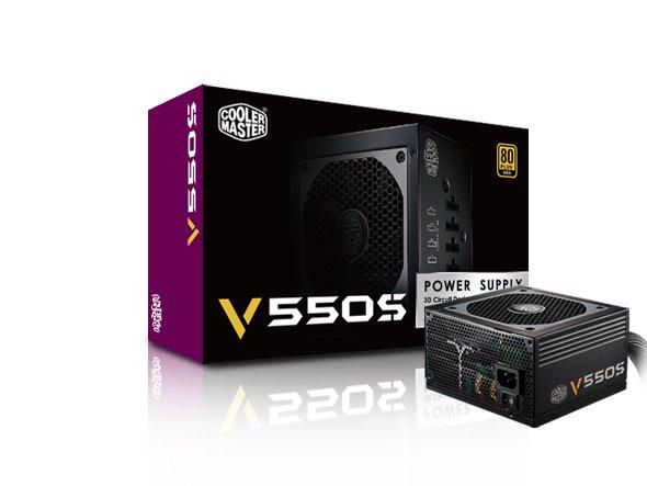 Cooler Master V550 Semi Modular-PC-Netzteil (550W, 80Plus Gold, Modular) @ZackZack für 49,99