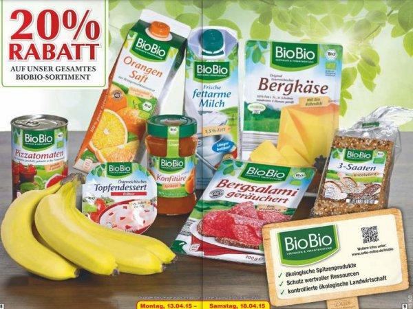 [vereinzelt] Netto MD (ohne Hund) - 20 % Rabatt auf das BioBio Sortiment