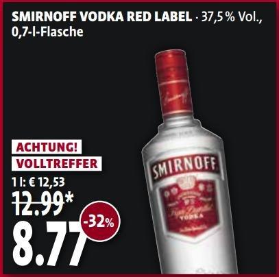 [Tengelmann München] Smirnoff Wodka Red Label 0,7 l (nur 17.-18.04.)