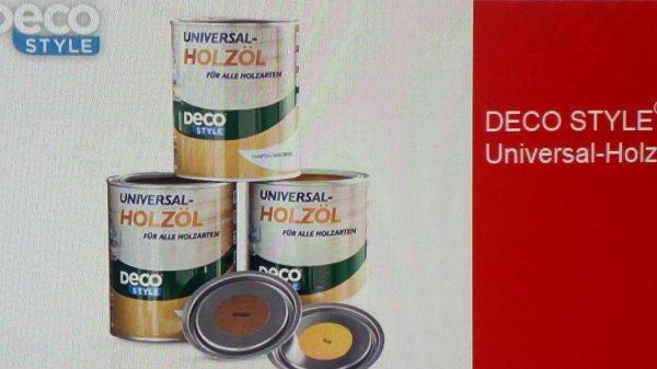 DECO STYLE® Universal-Holzöl, 1 l  für  4,99 € am 18.04.15 bei [Aldi Süd]