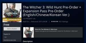 [PS4] The Witcher 3: Wild Hunt Pre-Order + Expansion Pass Pre-Order (FREE)