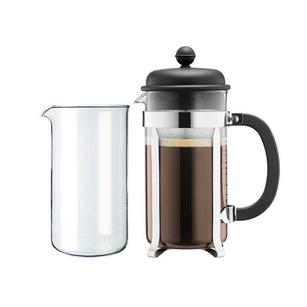 [Update] Bodum Kaffeebereiter Caffettiera Set für 8 Tassen + Ersatzglas 22,89€ zzgl. 4,95€ Versand @Voelkner