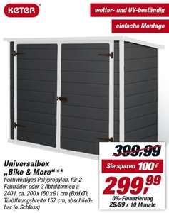 toom bm keter bike more universalbox 299 statt. Black Bedroom Furniture Sets. Home Design Ideas