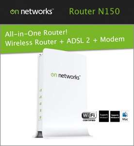 On Networks N150 WLAN Router + ADSL2+ Modem für 14,90 @ ebay.de