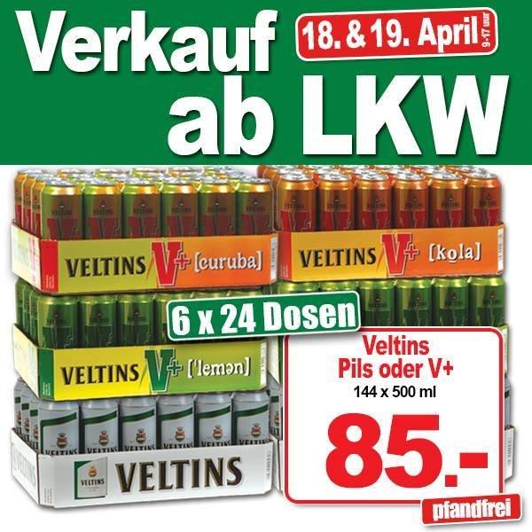 [Lokal NL] terHuurne LKW-Verkauf | 6x24x500ml Veltins (pfandfrei) 18./19. April