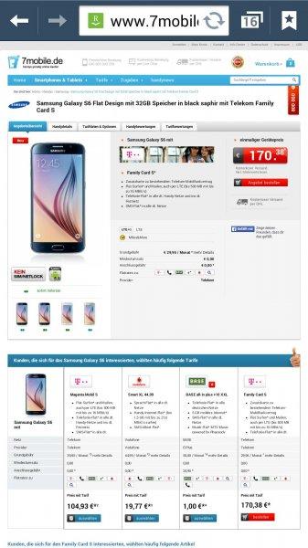 Samsung Galaxy S6 32gb in Schwarz