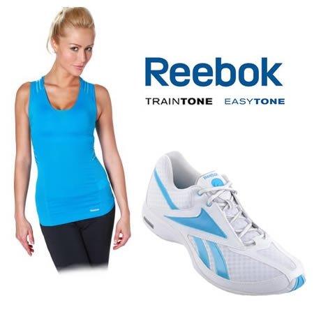 [Eltronics] Reebok Easytone Taped Shirt + Traintone Schuhe im Set