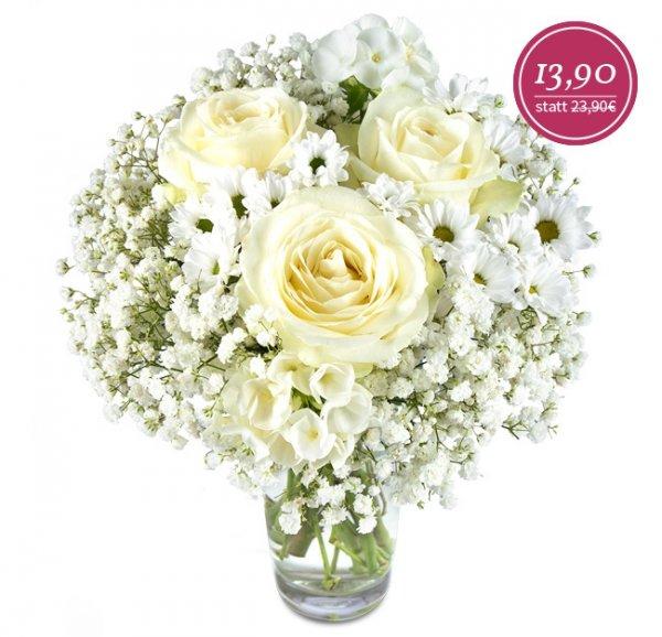 [Miflora] Fiona - Blumenstrauß mit weißen Blüten für 19,80 EUR (+10% Qipu)