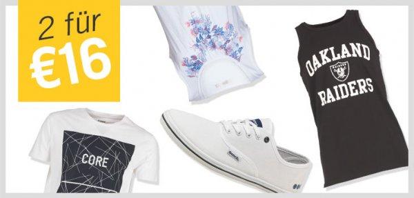 """[mandmdirect] """"2 für 16 EUR Aktion"""" z.B. Jack & Jones T-Shirt und Bench Schuhe für zusammen 16,- EUR (+ 10% Qipu) (NEU: Bis zu 20,- Rabatt zusätzlich möglich)"""