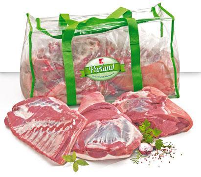 halbes Schwein - grob zerlegt, in zwei gratis tragetaschen für 1,99 das kg