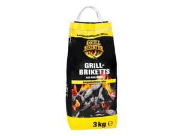 [LIDL] GRILLMEISTER Grillbriketts 3 kg für 1,99 € (1 kg = 0.67€)