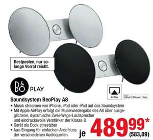 METRO, Bang & Olufsen Soundsystem BeoPlay A8 583,09€ (idalo 649,99)