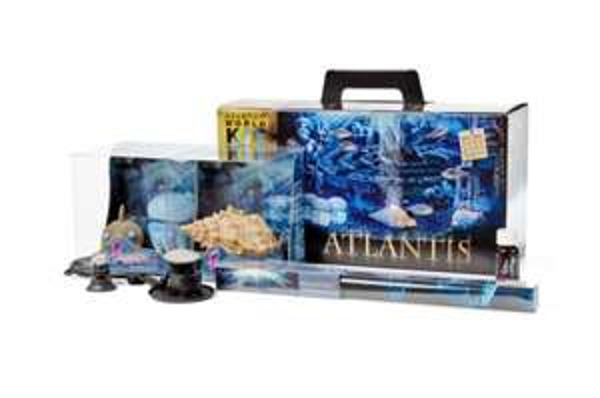 Hydor H2Show Kit Atlantis, Aquariendeko mit LED, Hintergrund, Gel und Bubble Maker, @Amazon (prime)