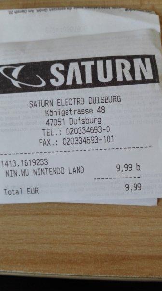 Lokal Duisburg Saturn Nintendo Land Wii U und Wii U Fit mit Fitmeter