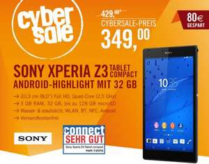 [cyberport] Sony Xperia Z3 Tablet compact 32 GB