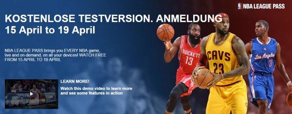 NBA League Pass - Kostenlose Testphase vom 15.-19. April