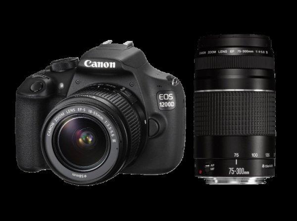 CANON EOS 1200D Spiegelreflexkamera mit 2 Objektiven 18-55mm + 75-300mm,  @Saturn Late-Night-Shopping