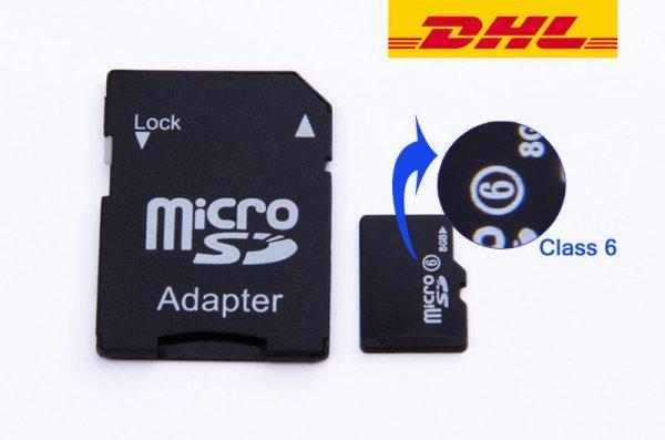 [eBay.de] 8GB Micro SD Karte + Adapter + Hülle für 2,95€ Versand: Kostenlos