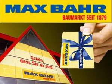 4,00 € statt 10,00 € - 10,00 € Geschenkkarte für alle Max Bahr Baumärkte in Deutschland inkl. Versand