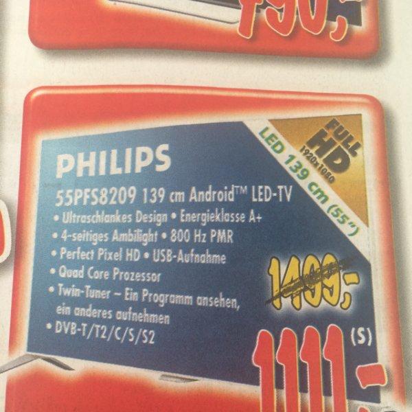 (LOKAL ESSLINGEN) Philips 55PFS8209 für 1111€ (-21%!)