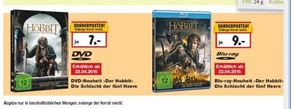 [Kaufland] HOBBIT 'Die Schlacht der fünf Heere' DVD 7,00 EUR,  Blu-ray 9,00 EUR (23.-25.04)