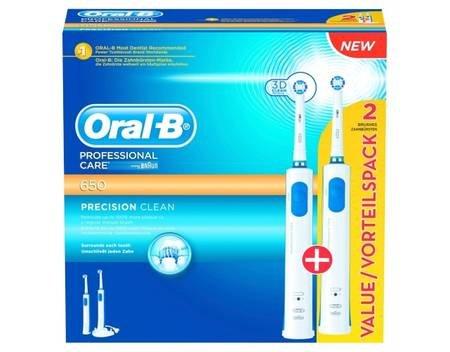 [Allyouneed] Braun Oral-B Professional Care 650, Zahnbürstenset (elektrische Zahnbürste +2. Handteil) für 36,90 EUR