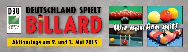 [Offline, 2./3. Mai] Deutschland spielt Billard – 2015