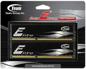 "Team Group™ - Arbeitsspeicher 8GB DIMM Kit ""Elite Black"" (PC3-12800 DDR3-1600,CL11,2x4GB) ab €46,22 [@HOH.de]"