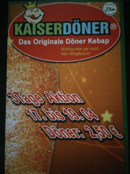[Lokal Magdeburg] Döner für 2,50€ bei Kaiser Döner vom 17.04 bis 19.04