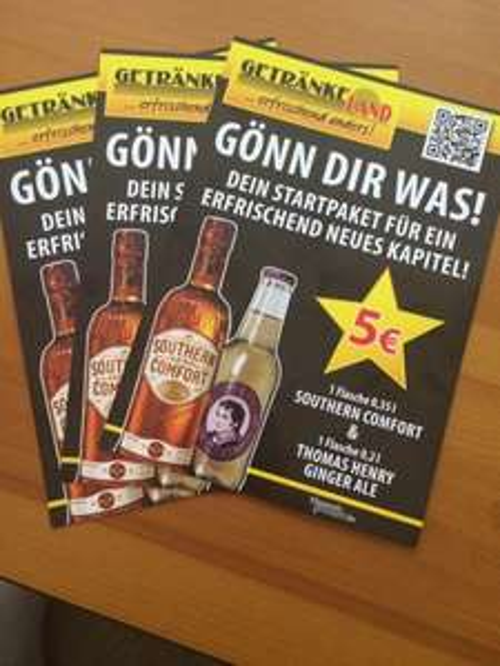 Southern comfort (0,35l) incl. Ginger Ale für  5€ @ Getränkeland