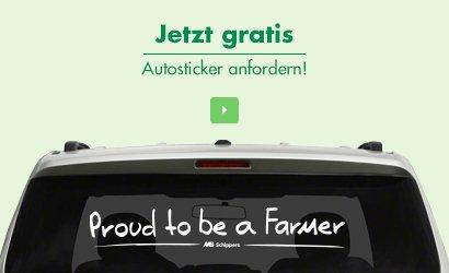 """Kostenloser Autosticker """"Proud to be a Farmer"""" (nur für Bauern)"""
