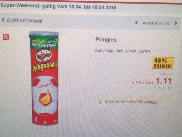[Lokal] [47475 Kamp-Lintfort] [Kaufland] Pringles Kartoffelgebäck, versch. Sorten