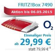 [O2 DSL] Fritz!Box 7490 (Leihgerät!) für 29,99 € Leihgebühr (statt 50 oder 80 €, + VK) möglich