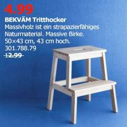 Ikea Berlin - Waltersdorf, BEKVÄM Tritthocker, nur am 19.04. für 4,99 € statt 12,99 €