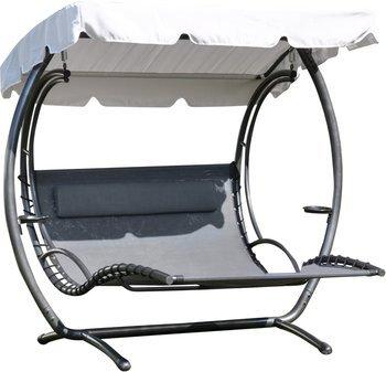 LECO Duo-Swing-Liege XXL Gartenliege Sonnenliege mit Dach, 354,85 EUR @ gartenxxl