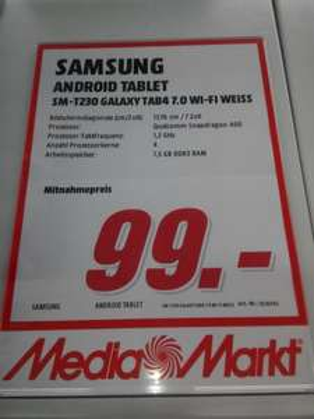 Media Markt Bad Dürrheim-Samsung Galaxy Tab4 7.0 WI-FI für 99€