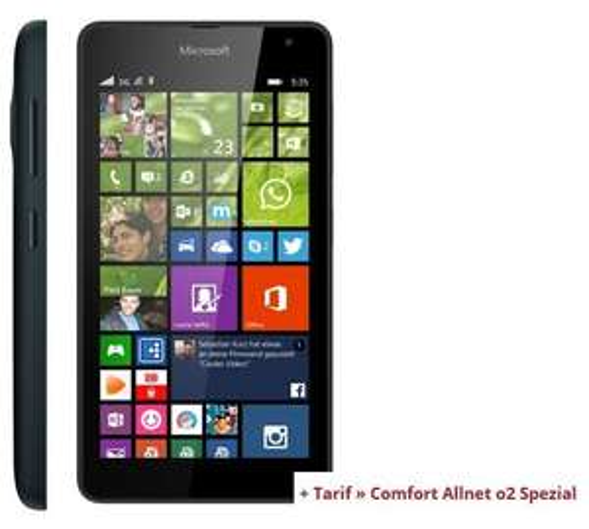 Microsoft Lumia 535 + Comfort Allnet o2 Spezial + 500MB Daten für 12,20€mtl.