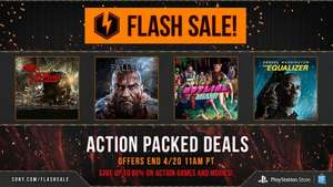 Flash Sale im US PlayStation Store PSN (PS4 / PS3 / PS VITA) Spiele ab  0,56€ z.B. Lords of the Fallen PS4 für 22,23€