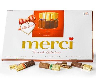 [Aldi Süd] merci Finest Selection Schokolade von Storck 400g - 3,99€