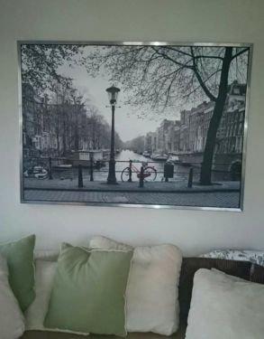 [Lokal ?] IKEA VILSHULT Bild mit Rahmen, Amsterdam, 140x100 cm statt 29,99