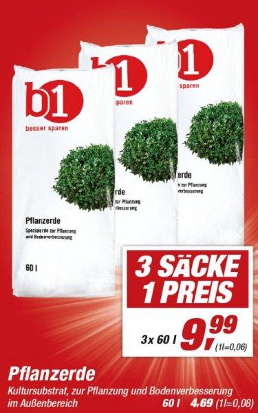 [toom Baumarkt/Bundesweit?] B1 3x60L (180L) Pflanzerde für 9,99€ ab 18.04.2015