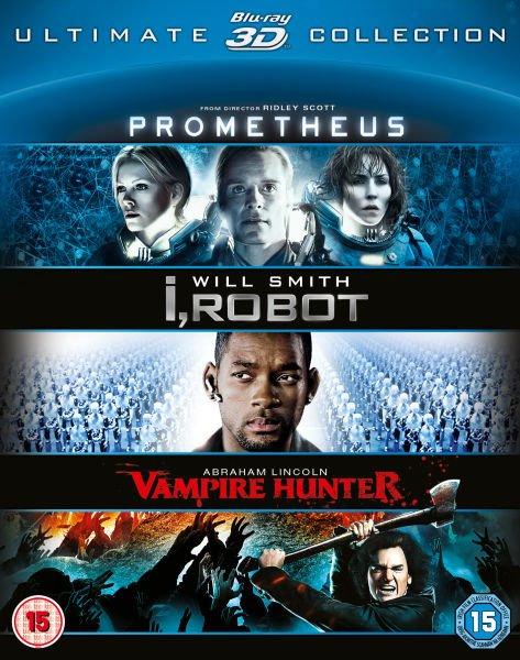 Prometheus / I,Robot / Abraham Lincoln 3D-Blu-rays für zusammen 13,89€ bei Zavvi.com