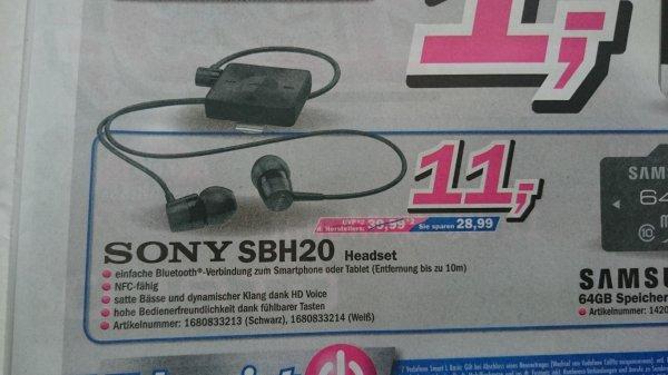 (Lokal-Telepoint) Sony SBH20 Headset (Bluetooth 3.0, NFC, Multipoint Connectivity) Idealo ab 18.90€