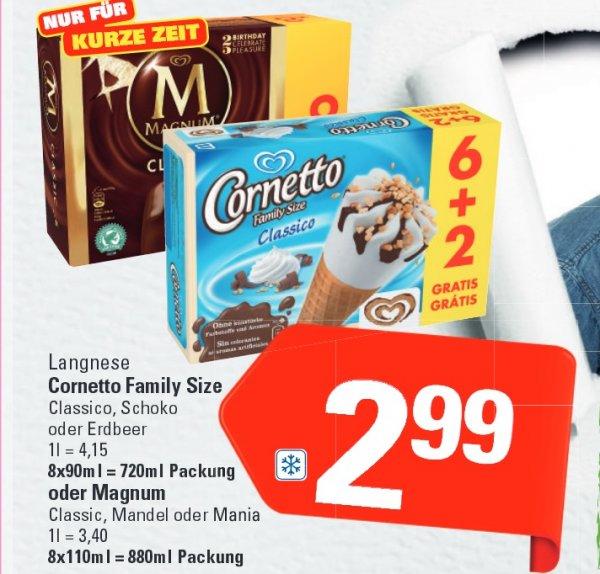 [Marktkauf]  Magnum Classic, Mandel,Mania je 8Stück/Packung für 2,99€