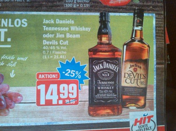 (HIT-Märkte) Jack Daniels 0.7l für 14,99€